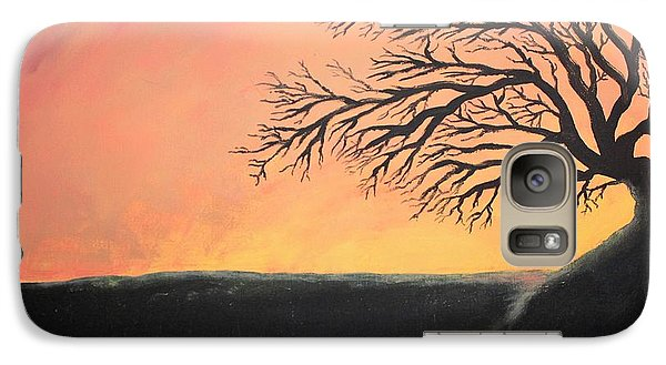 Galaxy Case featuring the painting The Sun Was Set by Antonio Romero