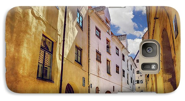 Galaxy Case featuring the photograph The Sunny Streets Of Old Riga  by Carol Japp