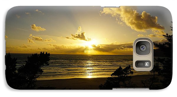 Galaxy Case featuring the photograph The Sunset by Angi Parks