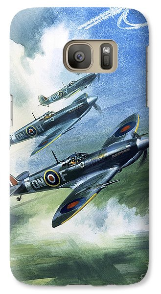 The Supermarine Spitfire Mark Ix Galaxy Case by Wilfred Hardy