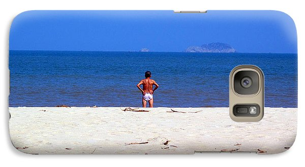 Galaxy Case featuring the photograph The Swimmer by Ethna Gillespie