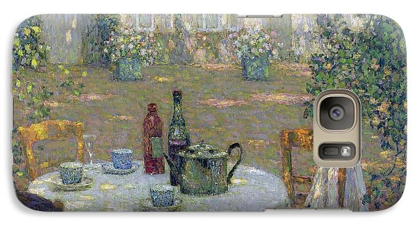 Garden Galaxy S7 Case - The Table In The Sun In The Garden by Henri Le Sidaner