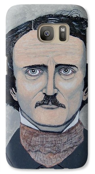 Galaxy Case featuring the painting The Telltale Heart Of Edgar Allen Poe. by Ken Zabel