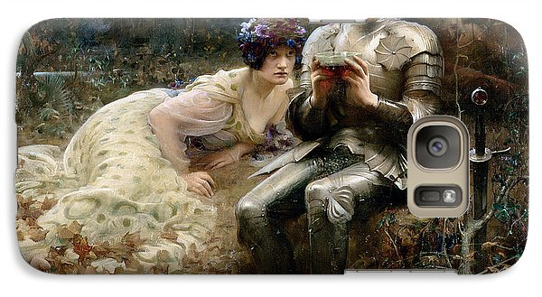 The Temptation Of Sir Percival Galaxy Case by Arthur Hacker
