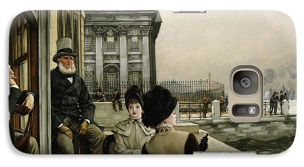 The Terrace Of The Trafalgar Tavern Greenwich Galaxy Case by James Jacques Joseph Tissot