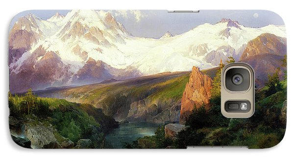 Galaxy Case featuring the painting The Teton Range Painting By Thomas Moran                               by Thomas Moran