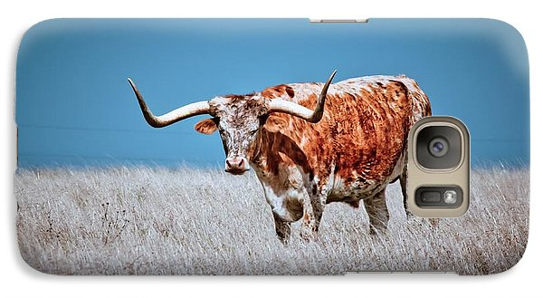 Galaxy Case featuring the photograph The Texas Longhorn by Linda Unger