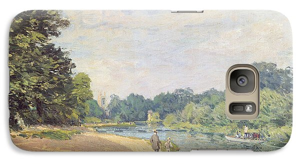 The Thames With Hampton Church Galaxy Case by Alfred Sisley