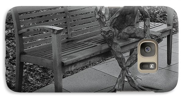 Galaxy Case featuring the photograph The Thinking Frog by Donna Brown