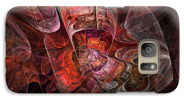Galaxy Case featuring the digital art The Third Voice - Fractal Art by NirvanaBlues