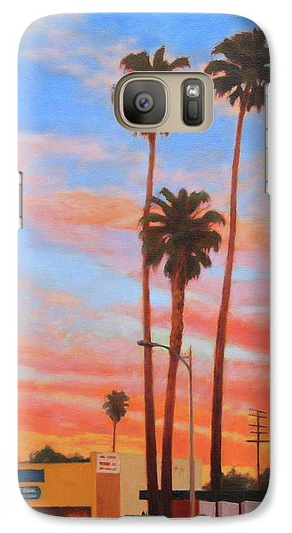 Galaxy Case featuring the painting The Three Palms by Andrew Danielsen