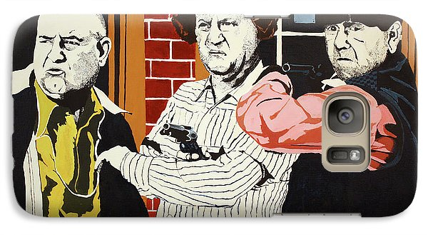 Galaxy Case featuring the painting The Three Stooges by Thomas Blood