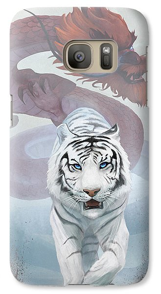 Galaxy Case featuring the digital art The Tiger And The Dragon by Steve Goad