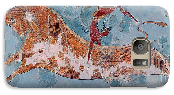 The Toreador Fresco, Knossos Palace, Crete Galaxy Case by Greek School