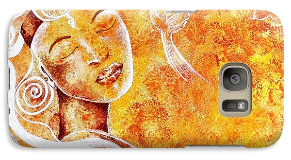 Galaxy Case featuring the painting The Touch Of Grace by Julie  Hoyle