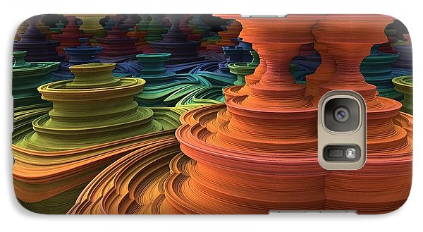 Galaxy Case featuring the digital art The Towers Of Zebkar by Lyle Hatch