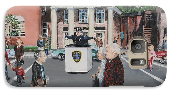 Galaxy Case featuring the painting The Traffic Box by Jack Skinner