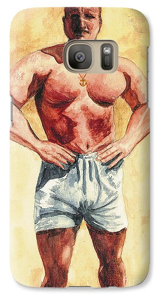 Galaxy Case featuring the painting The Trainer by Vicki  Housel