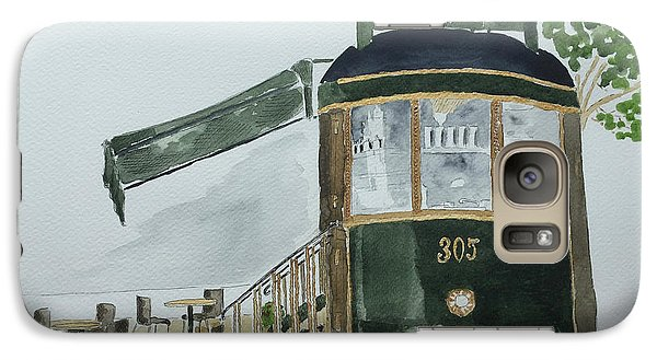 Galaxy Case featuring the painting The Tram Cafe by Eva Ason