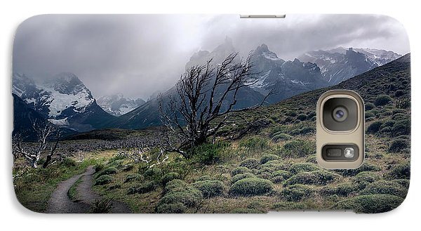 Galaxy Case featuring the photograph The Tree In The Wind by Andrew Matwijec