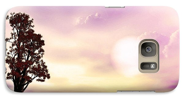 Galaxy Case featuring the mixed media The Tree by Tyler Robbins