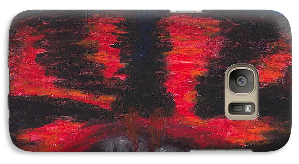Galaxy Case featuring the painting The Truth by Ania M Milo