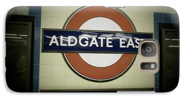 Galaxy Case featuring the photograph The Tube Aldgate East by Christin Brodie