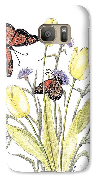 Galaxy Case featuring the painting The Tulip And The Butterfly by Stanza Widen