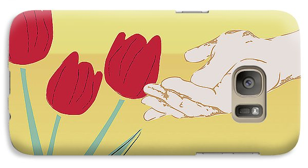 Galaxy Case featuring the digital art The Tulips by Milena Ilieva