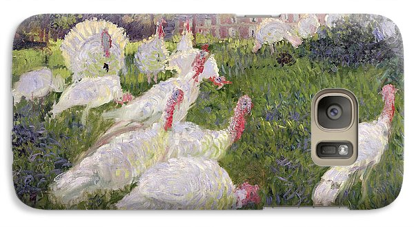 Turkey Galaxy S7 Case - The Turkeys At The Chateau De Rottembourg by Claude Monet