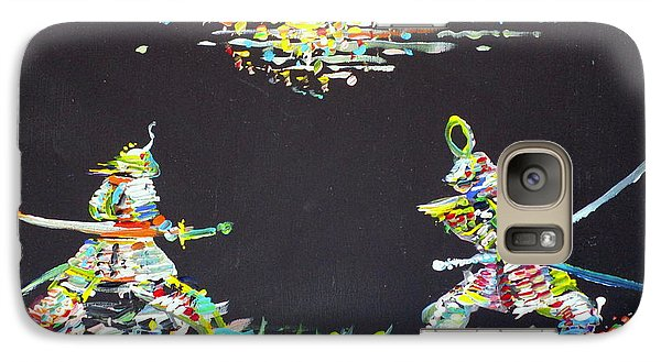 Galaxy Case featuring the painting The Two Samurais by Fabrizio Cassetta