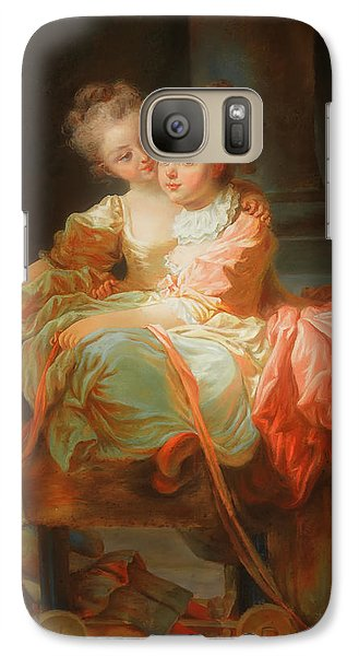 Galaxy Case featuring the painting The Two Sisters                                   by Jean Claude Richard