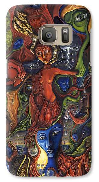 Galaxy Case featuring the painting The Ultimate Conflict by Karen Musick