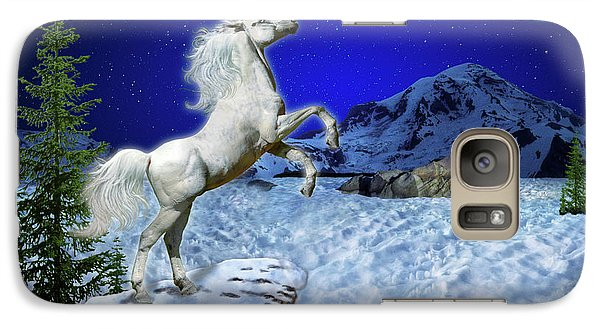 Galaxy Case featuring the digital art The Ultimate Return Of Unicorn  by William Lee
