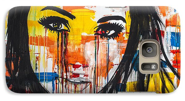 Galaxy Case featuring the painting The Unseen Emotions Of Her Innocence by Bruce Stanfield