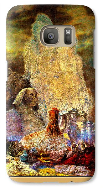 Galaxy Case featuring the painting The Valley Of Sphinks by Henryk Gorecki