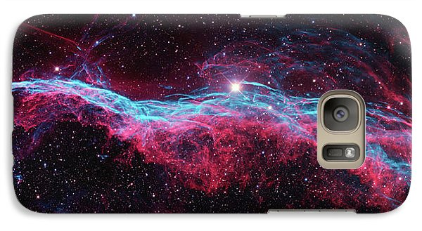 Galaxy Case featuring the photograph The Veil Nebula by Nasa