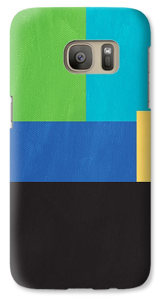 The View From Here- Modern Abstract Galaxy S7 Case by Linda Woods