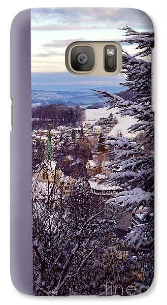 Galaxy Case featuring the photograph The Village - Winter In Switzerland by Susanne Van Hulst
