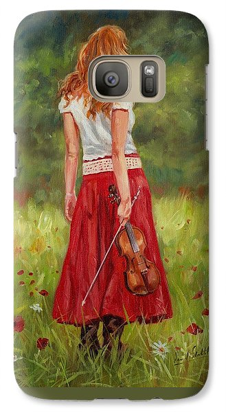 Violin Galaxy S7 Case - The Violinist by David Stribbling