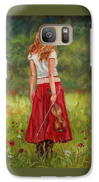 The Violinist Galaxy S7 Case by David Stribbling