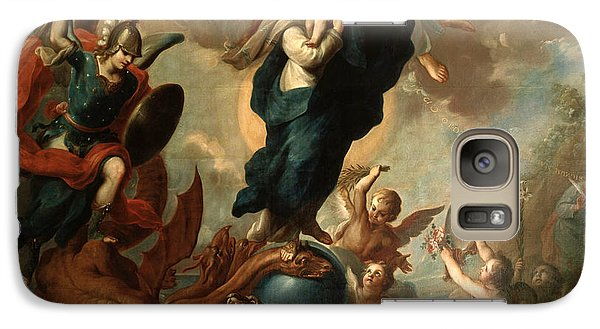 Galaxy Case featuring the painting The Virgin Of The Apocalypse by Miguel Cabrera