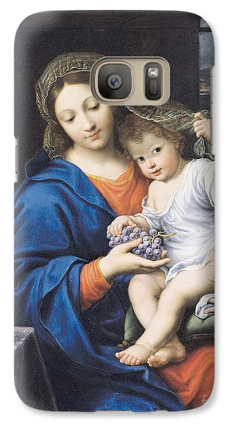 The Virgin Of The Grapes Galaxy S7 Case by Pierre Mignard