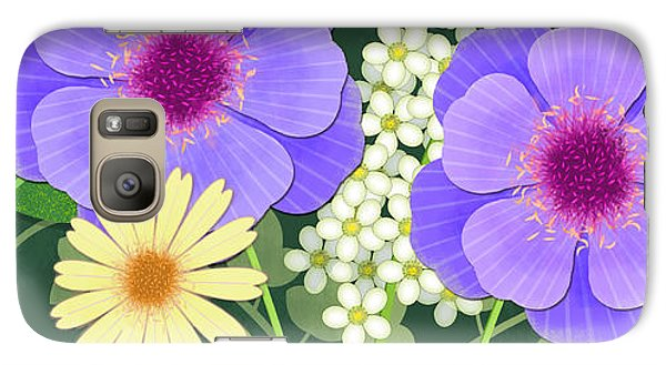 Folk Art Galaxy S7 Case - The Visitors by Valerie Drake Lesiak
