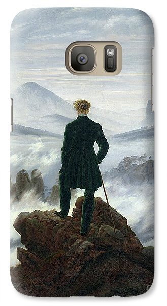The Wanderer Above The Sea Of Fog Galaxy S7 Case by Caspar David Friedrich
