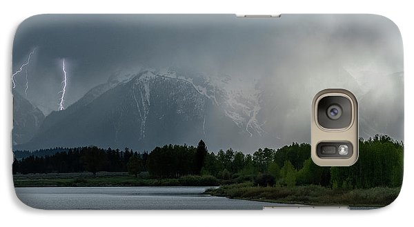 Galaxy Case featuring the photograph The Warning by Sandra Bronstein