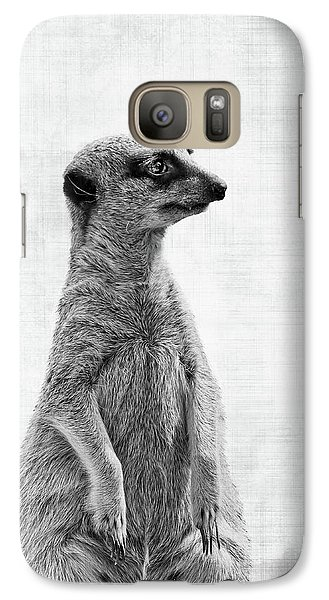 Meerkat Galaxy S7 Case - The Watcher by Delphimages Photo Creations