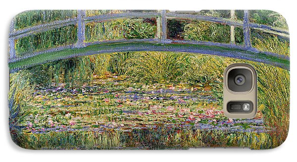 Lily Galaxy S7 Case - The Waterlily Pond With The Japanese Bridge by Claude Monet