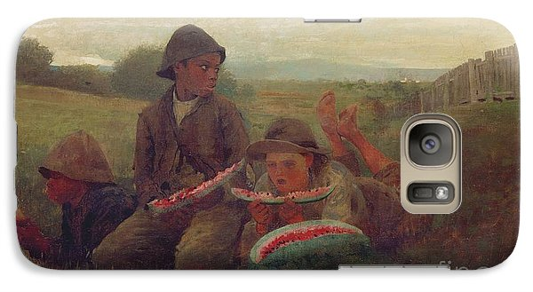 The Watermelon Boys Galaxy S7 Case by Winslow Homer