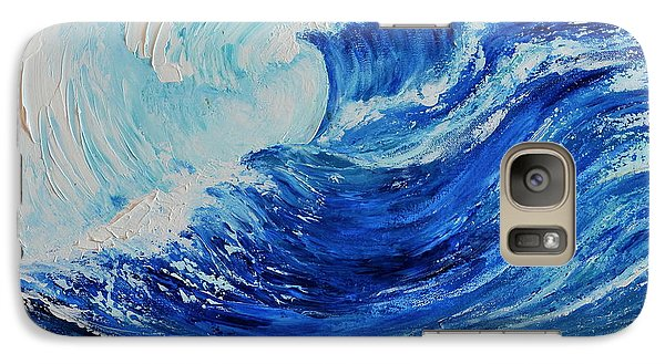 Galaxy Case featuring the painting The Wave by Teresa Wegrzyn